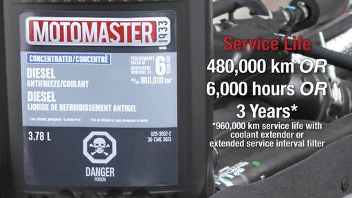MotoMaster Extended Life Diesel Antifreeze/Coolant - image 6 from the video
