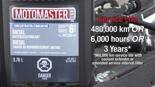 MotoMaster Extended Life Diesel Antifreeze/Coolant - image 8 from the video