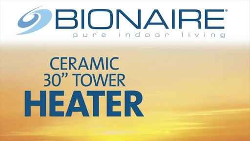 Bionaire Ceramic Heater Tower, 30-in - image 1 from the video