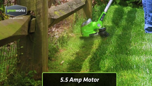Greenworks 5.5A Electric Grass Trimmer - image 10 from the video