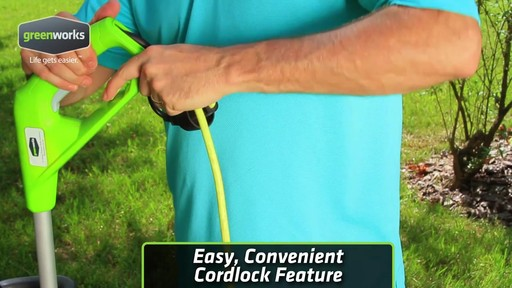 Greenworks 5.5A Electric Grass Trimmer - image 2 from the video