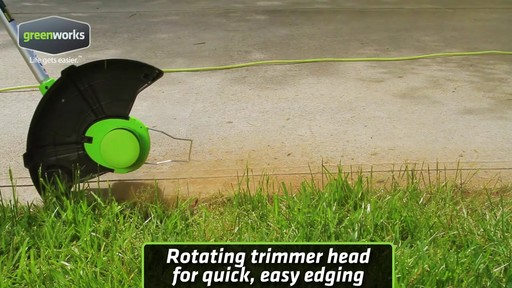 Greenworks 5.5A Electric Grass Trimmer - image 3 from the video