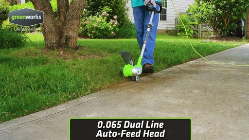 Greenworks 5.5A Electric Grass Trimmer - image 4 from the video