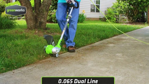 Greenworks 5.5A Electric Grass Trimmer - image 5 from the video