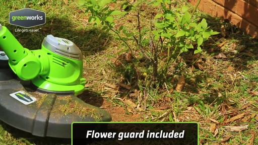 Greenworks 5.5A Electric Grass Trimmer - image 6 from the video