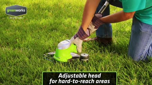 Greenworks 5.5A Electric Grass Trimmer - image 7 from the video