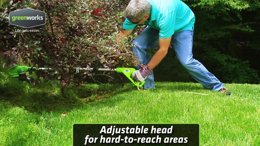 Greenworks 5.5A Electric Grass Trimmer - image 8 from the video