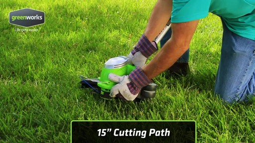 Greenworks 5.5A Electric Grass Trimmer - image 9 from the video