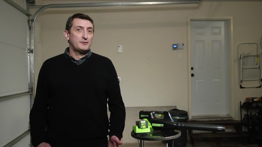 Greenworks 80V Leaf Blower - Tony's Testimonial - image 4 from the video