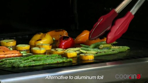 Cookina Reusable BBQ Cooking Sheet - image 2 from the video