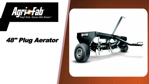 Agri Fab 48-in Plug Two Aerator - image 2 from the video