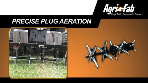 Agri Fab 48-in Plug Two Aerator - image 3 from the video