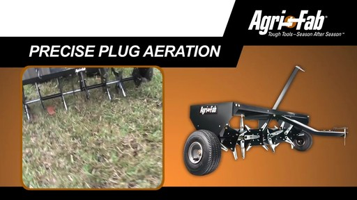 Agri Fab 48-in Plug Two Aerator - image 4 from the video
