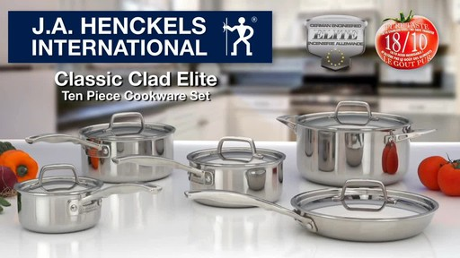 Henckels Clad Cookware Set, 10-pc - image 10 from the video