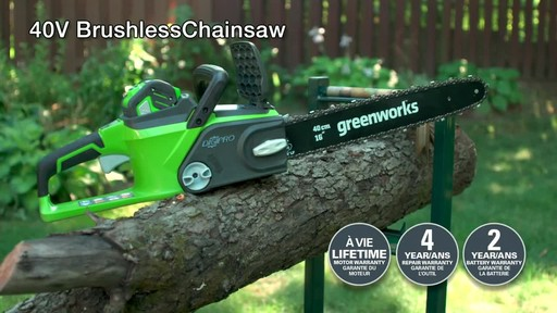 Greenworks 40V Cordless Chainsaw - Testimonial - image 10 from the video