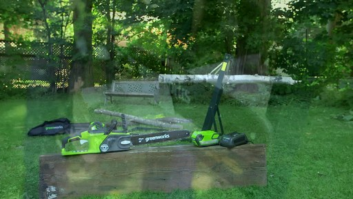 Greenworks 40V Cordless Chainsaw - Testimonial - image 2 from the video