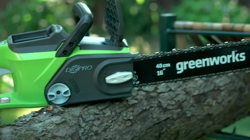 Greenworks 40V Cordless Chainsaw - Testimonial - image 3 from the video