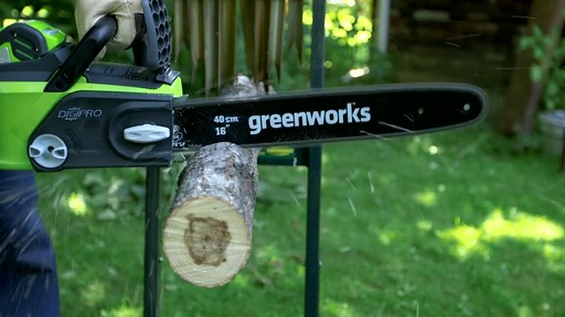 Greenworks 40V Cordless Chainsaw - Testimonial - image 6 from the video