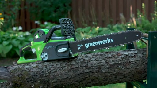 Greenworks 40V Cordless Chainsaw - Testimonial - image 7 from the video