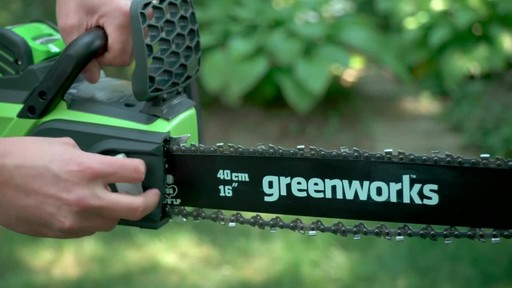 Greenworks 40V Cordless Chainsaw - Testimonial - image 8 from the video