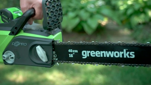 Greenworks 40V Cordless Chainsaw - Testimonial - image 9 from the video