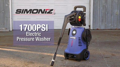 Simoniz 1700 PSI Electric Pressure Washer - image 1 from the video