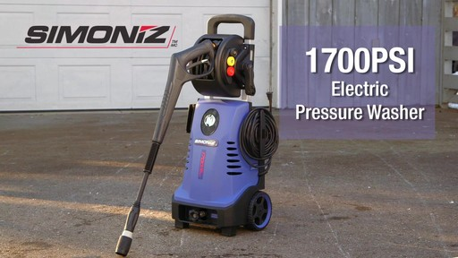 Simoniz 1700 PSI Electric Pressure Washer - image 10 from the video