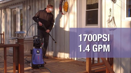 Simoniz 1700 PSI Electric Pressure Washer - image 2 from the video