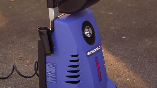 Simoniz 1700 PSI Electric Pressure Washer - image 5 from the video