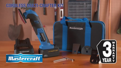 Mastercraft 20V Max Multi-Tool with Accessories - image 10 from the video