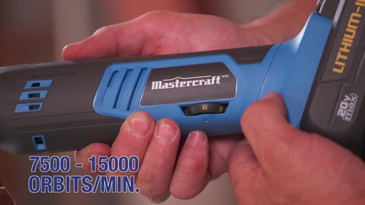 Mastercraft 20V Max Multi-Tool with Accessories - image 5 from the video