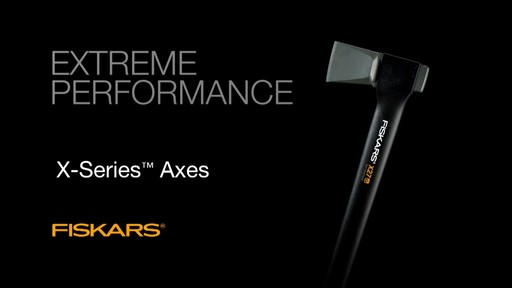 Fiskars X-Series Axes Virtually Unbreakable - image 10 from the video