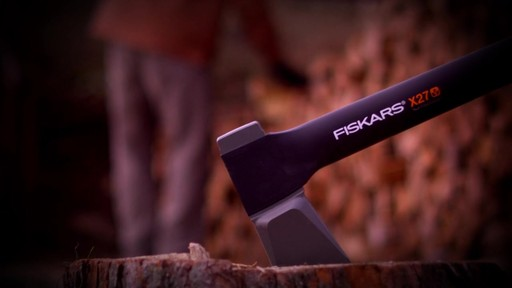 Fiskars X-Series Axes Virtually Unbreakable - image 2 from the video