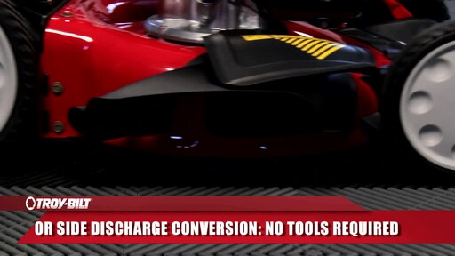 Troy-Bilt 160cc Smart Speed Lawn Mower - image 7 from the video