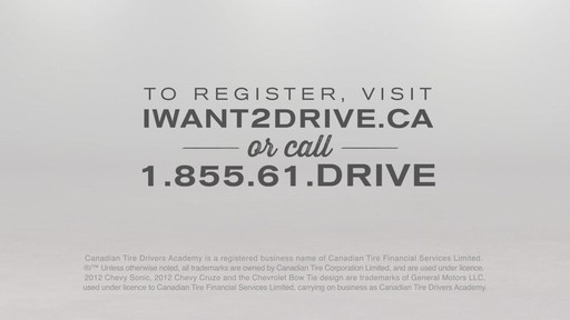 Canadian Tire Drivers Academy - I Want To Drive - image 10 from the video
