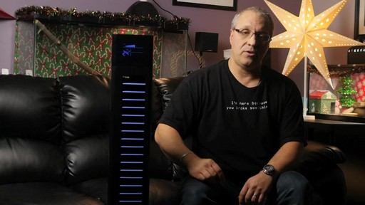 NOMA Direct Current Tower Fan - Mike's Testimonial - image 4 from the video
