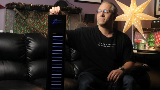 NOMA Direct Current Tower Fan - Mike's Testimonial - image 5 from the video