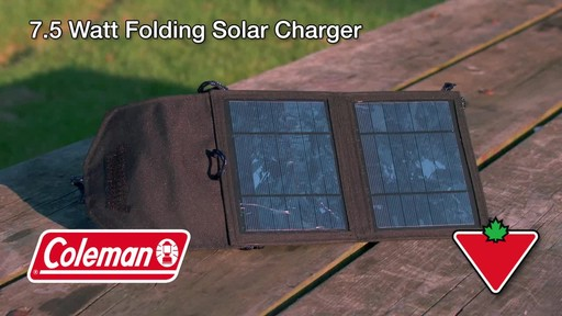 Coleman 7.5 Watt Folding Solar Charger - image 1 from the video