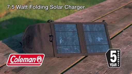 Coleman 7.5 Watt Folding Solar Charger - image 10 from the video