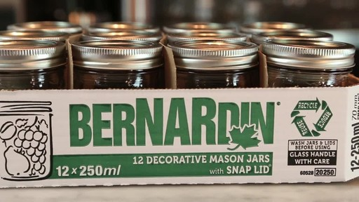 Bernardin Decorative Mason Jar 250 mL - image 7 from the video