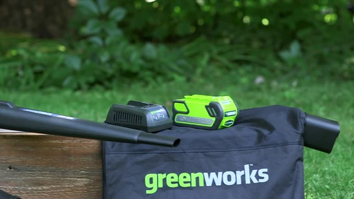 GreenWorks 40V LithiumIon Brushless Cordless Leaf Blower Vac - image 1 from the video