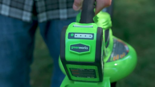 GreenWorks 40V LithiumIon Brushless Cordless Leaf Blower Vac - image 4 from the video