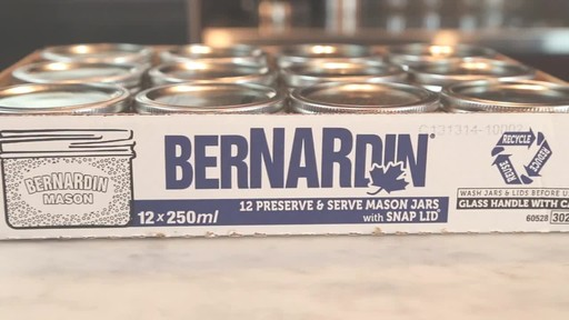 Bernardin Wide Mouth Mason Jars, 250 ml - image 7 from the video