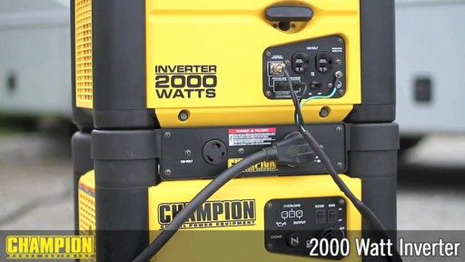 Champion 2000W Inverter Generator - image 10 from the video