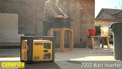 Champion 2000W Inverter Generator - image 4 from the video
