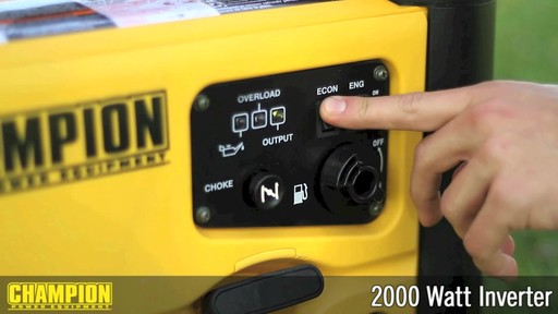 Champion 2000W Inverter Generator - image 5 from the video