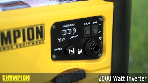 Champion 2000W Inverter Generator - image 6 from the video