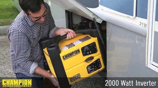 Champion 2000W Inverter Generator - image 7 from the video