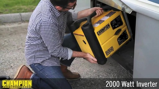 Champion 2000W Inverter Generator - image 8 from the video