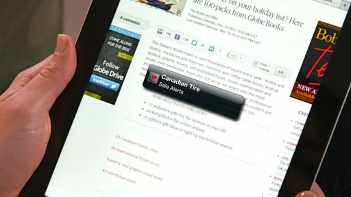 Canadian Tire iPad app: Sales Alert Feature - image 2 from the video
